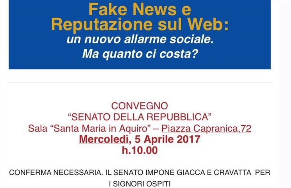 Fake news e reputazione sul web