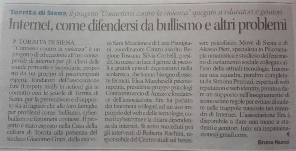 RS: Torrita di Siena - Cyberbullismo
