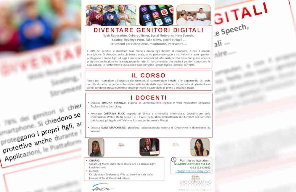 Conferenza - Incontro formativo Genitori digitali e web reputation