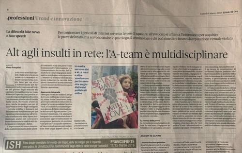 Siro Consulting - Alt agli insulti in rete: l'A-team �� multidisciplinare