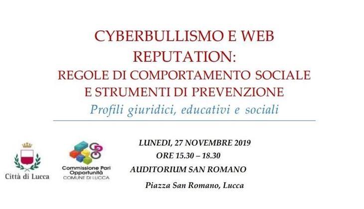 Convegno Cyberbullismo e Web Reputation, il 27 novembre a Lucca