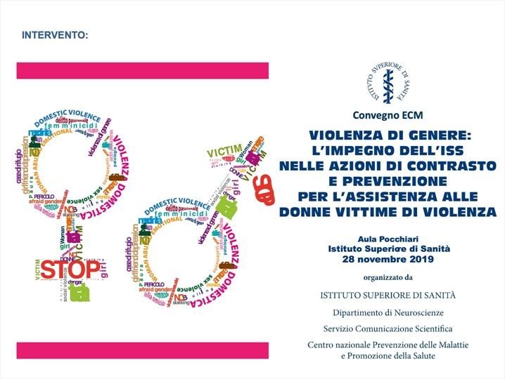 Violenza di genere: l'impegno dell'ISS nelle azioni di contrasto e prevenzione per l'assistenza alle donne vittime di violenza