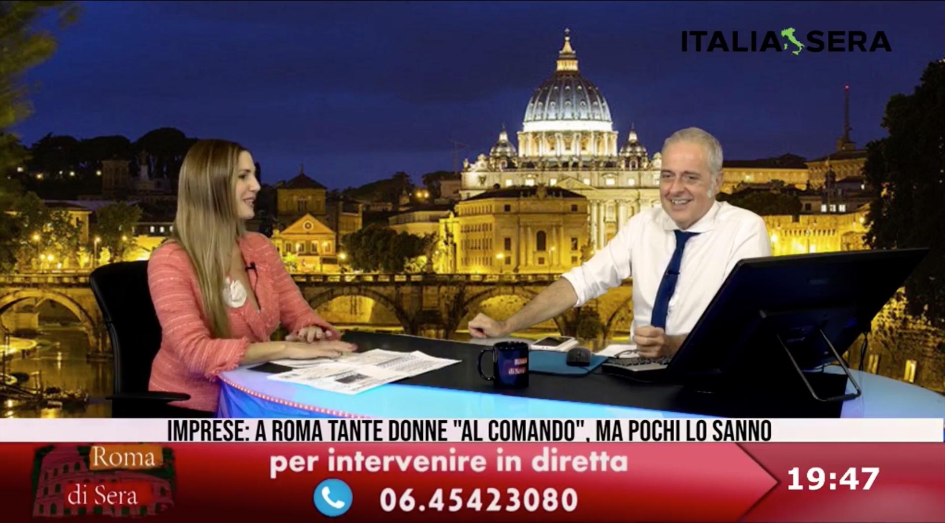 Simona Petrozzi ai microfoni di Italia Sera: imprenditoria femminile e gestione covid