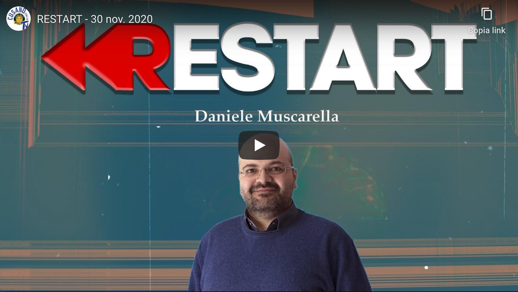L'Ing. Muscarella intervistato a Restart sui temi della web reputation, dell'educazione digitale e della sicurezza dei dati