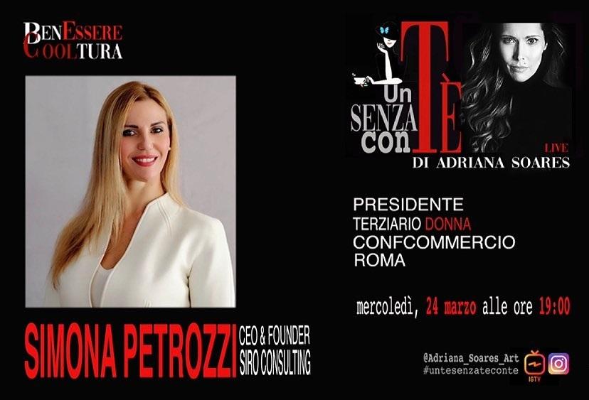Simona Petrozzi intervistata da Adriana Soares di Benessere e Cooltura