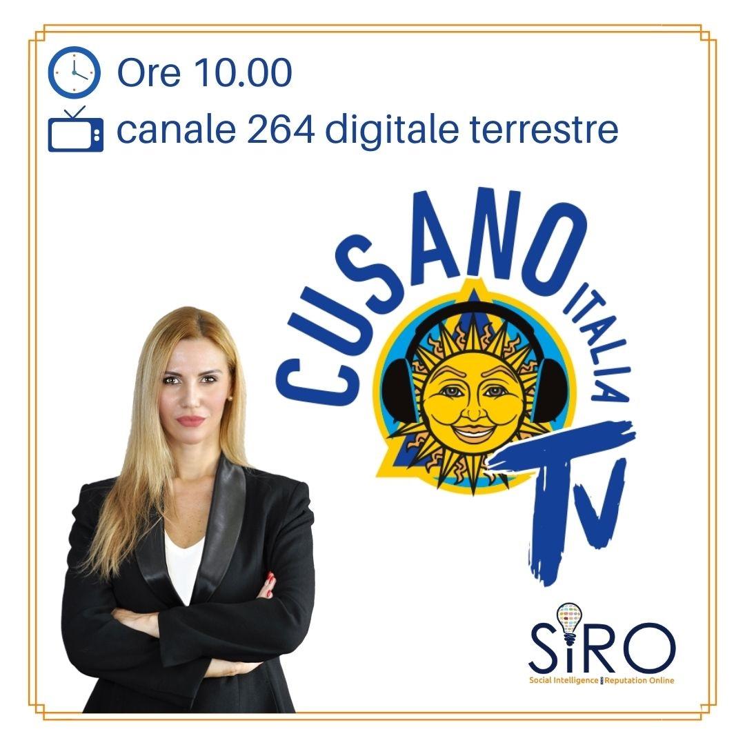 Simona Petrozzi a Cusano Italia TV per parlare di Web Reputation